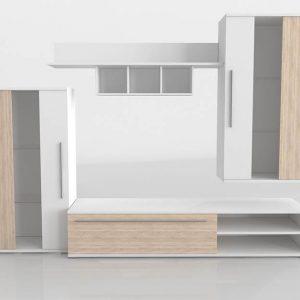 Mueble 3D Salón Kiona Modular Nature
