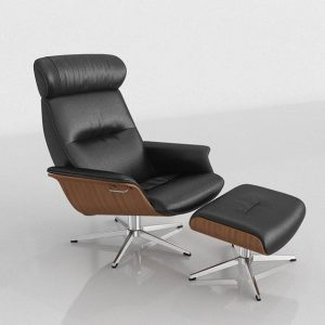 3D Armchair with Ottoman Benlliure&Baixauli Time Lux
