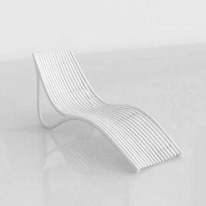 3D Sun Bed Benlliure&Baixauli Ibiza Vondom