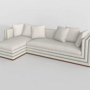Sofá 3D Chaise Longue Valentí Capri