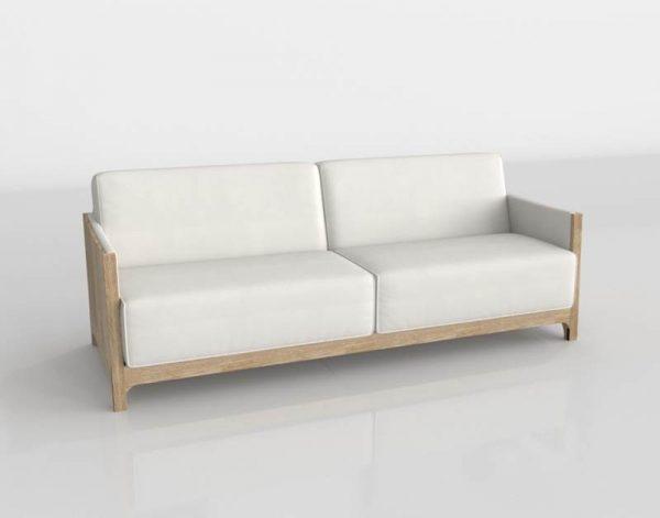 3D Sofa Valentí Natural