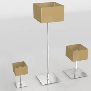 Conjunto de Lámparas 3D Valentí Chocolat Pequeño