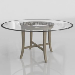 Halo Round Dining Table 3D Model