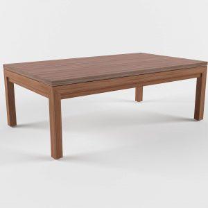 Parsons Rectangular Dining Table 3D Model
