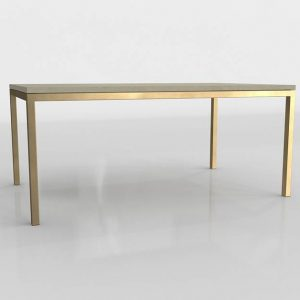 Parsons Surface Golden Dining Table 3D Model