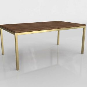 Parsons Surface Walnut Dining Table 3D Model