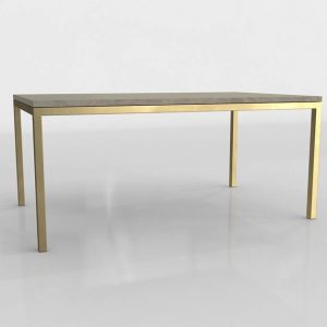 Parsons Marble Top Dining Table 3D Model