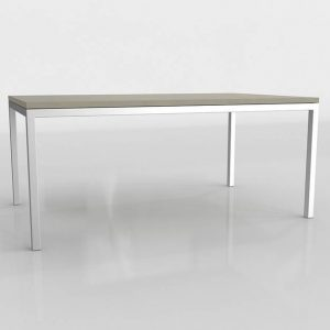 Parsons Gray Surface Dining Table 3D Model