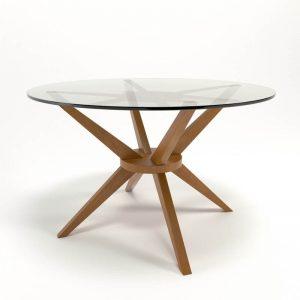 Modelo 3D Mesa de Comedor Cassidy de Cristal