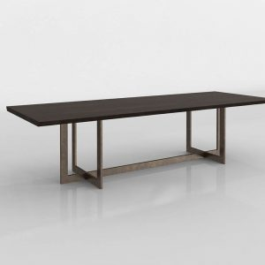 Linear Live Edge Dining Table 3D Model