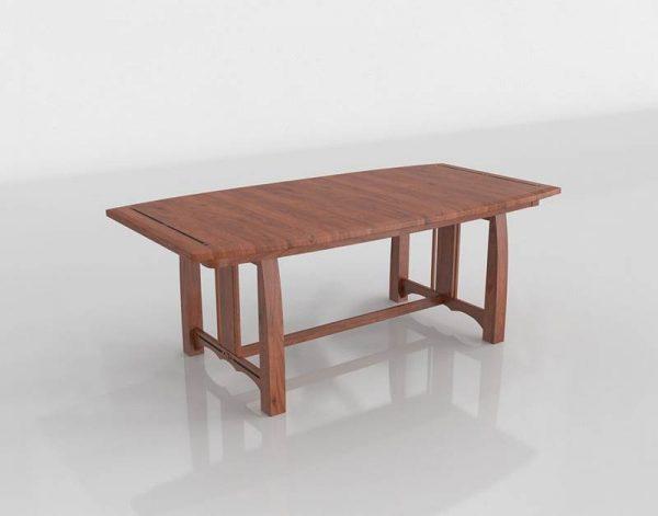 Aspen Dining Table 3D Model