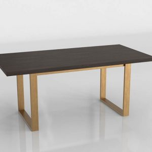 Smoked Radford Dining Table 3D Model