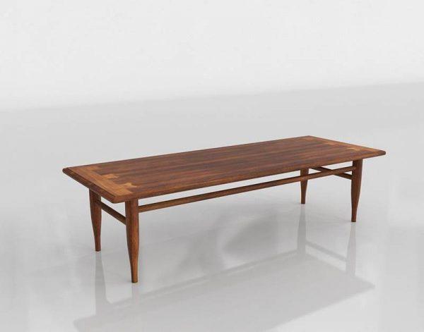 Large Custom Dining Table 3D Model