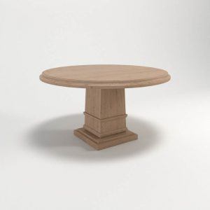 Hudson Round Dining Table 3D Model