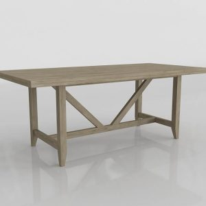 Upton Dining Table 3D Model