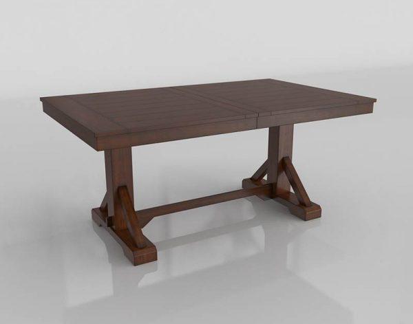 Mahogany Verona Dining Table 3D Model
