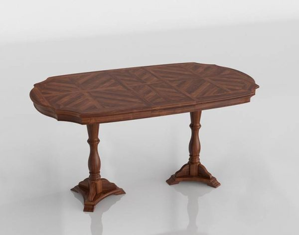 Marseille Dining Table 3D Model