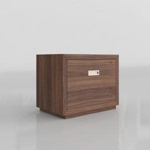 Aspect Walnut Cabinet 3D Model