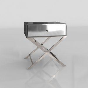 Modelo 3D Mesita de Noche Camille Mirrored