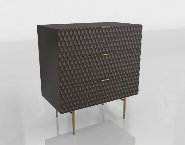 Black Audrey Dresser 3D Model