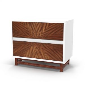 Ray Marquetry Nightstand 3D Model