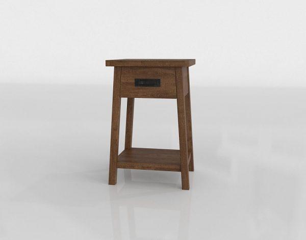 Mateo Nighstand 3D Model
