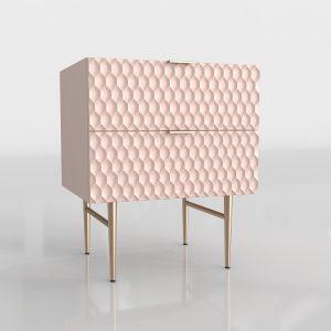 Pink Audrey Nightstand 3D Model