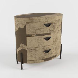 Oval Folie Nightstand 3D Model