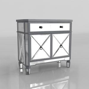 Modelo 3D Mesita de Noche Silver Mirror