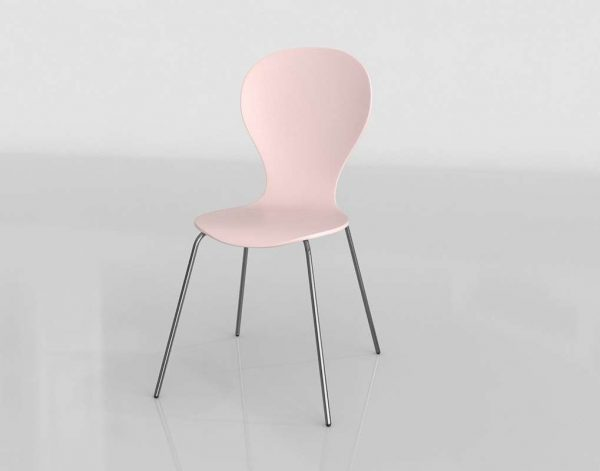 Goddard Blush Dining Chair 3D Model
