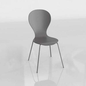 Goddard Dark Dining Chair 3D Model