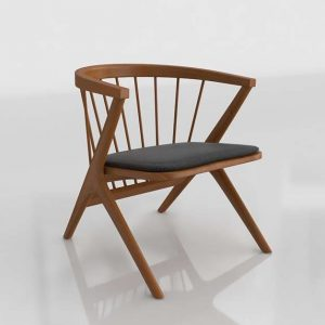 Soren Lounge Dining Chair 3D Model