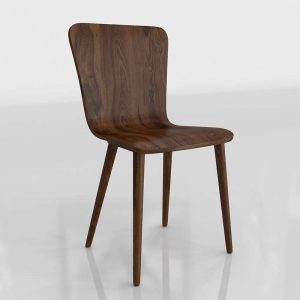 Sede Walnut Dining Chair 3D Model