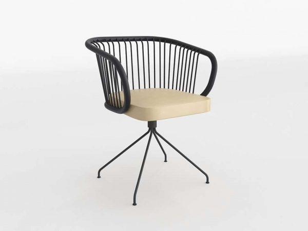 Huma Swivel Dining Chair 3D Model