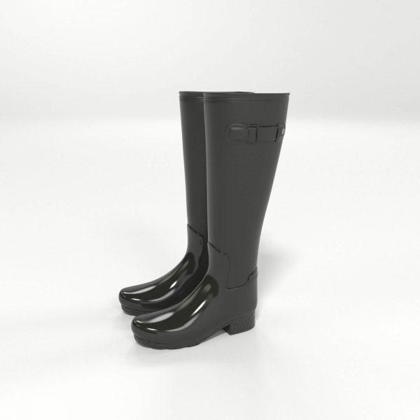Modelo 3D Botas de Agua para Mujer