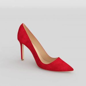 Manolo Red Shoes 3D Model