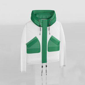 Green Waterproof Hunting Coat  3D Model