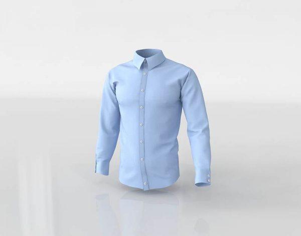 Modelo 3D Camisa Azul