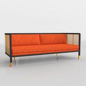 Modelo 3D Sofá Moderno de Mimbre