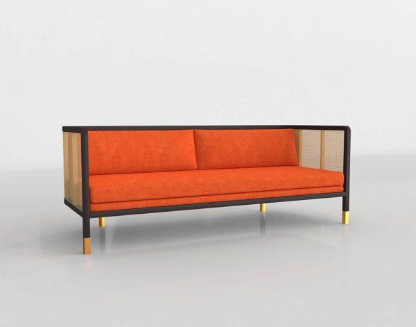 Wicker Modern Sofa 3D Model