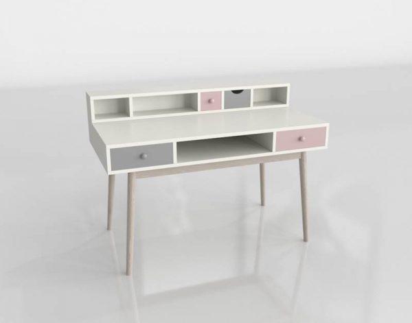 Trasce Vintage Desk 3D Model