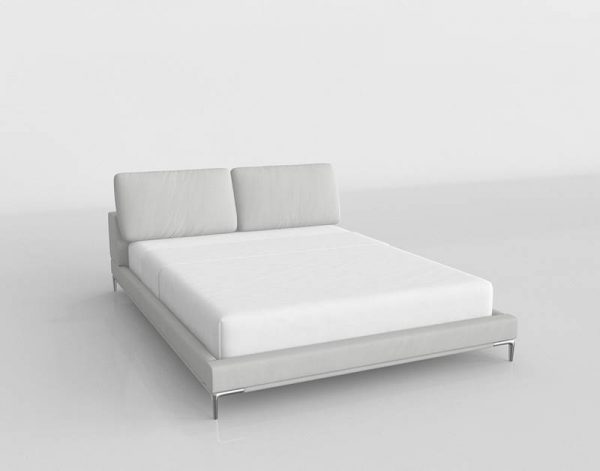 Nodes King Size Bed 3D Model