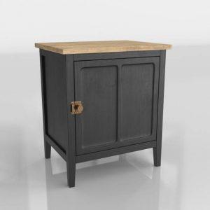Modelo 3D Mesita de Noche Cezanne