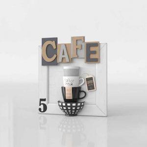 Modelo 3D Cuadro Cafe