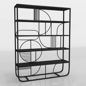 Industrial Vintage Shelf 3D Model