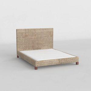 Hampton King Size Bed 3D Model
