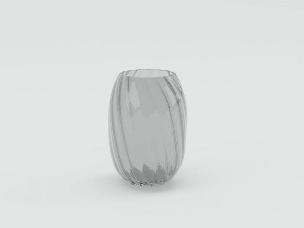 Glass Spiral Vase 3D Model