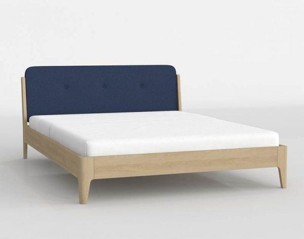 Jordan King Size Bed 3D Model