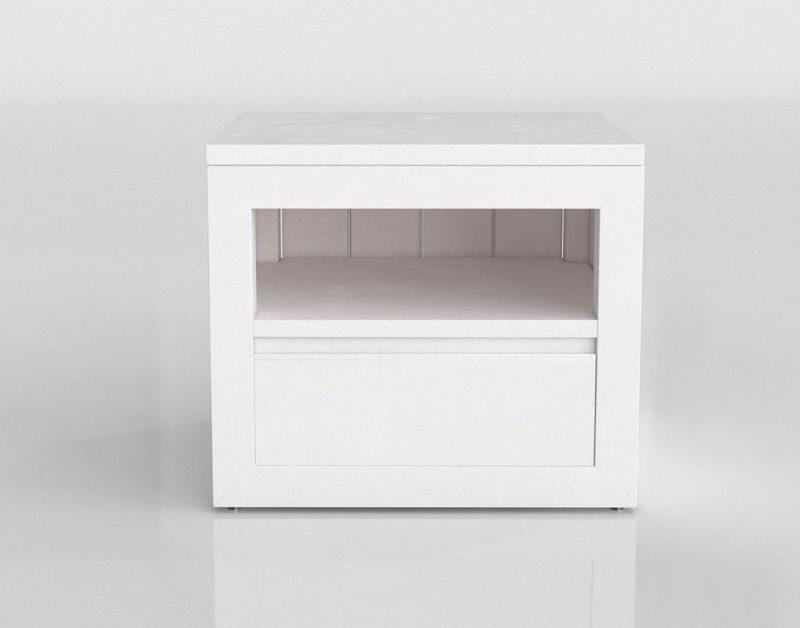 White Nightstand 3D Model