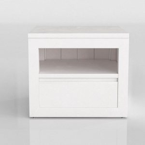 White Nightstand Drawer 3D Model